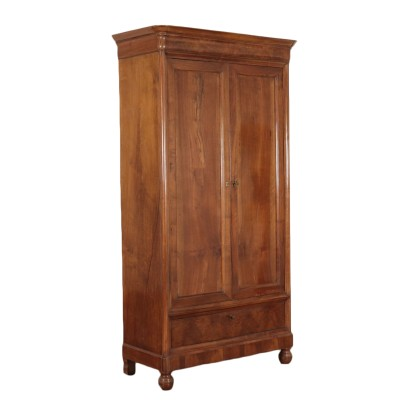 Walnut Wardrobe with Two Doors France 19th Century