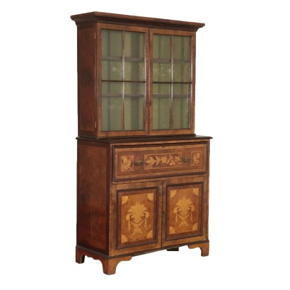 Dutch Cupboard Mahogany Maple and Walnut Holland 19th Century