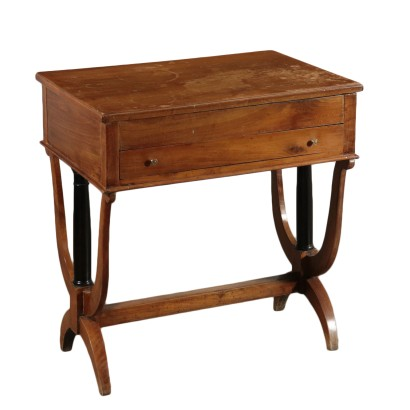 Walnut Work Table Italy 19th Century