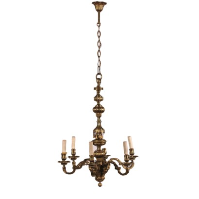 Bronze Chandelier Gilded Bronze 20th Century