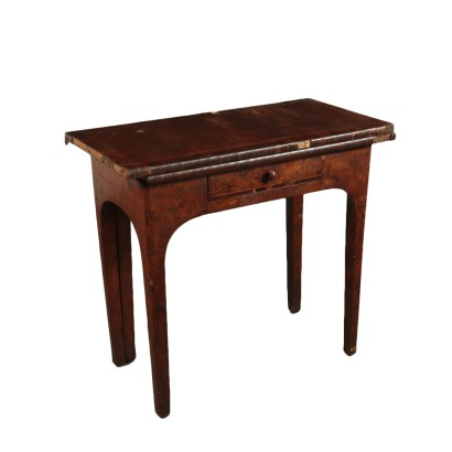Gaming Table Maple Mahogany Walnut Italy 18th Century