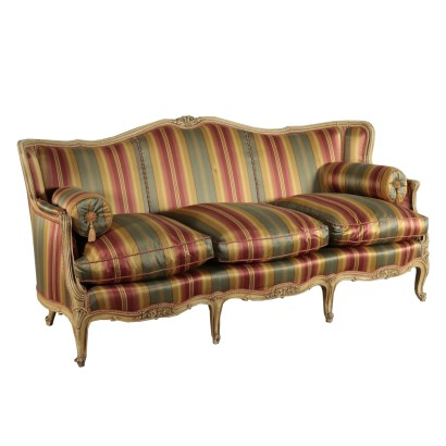 Lacquared Wood Couch 19th century