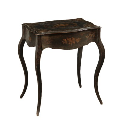 Lacquered Wood Table Italy Mid 19th Century