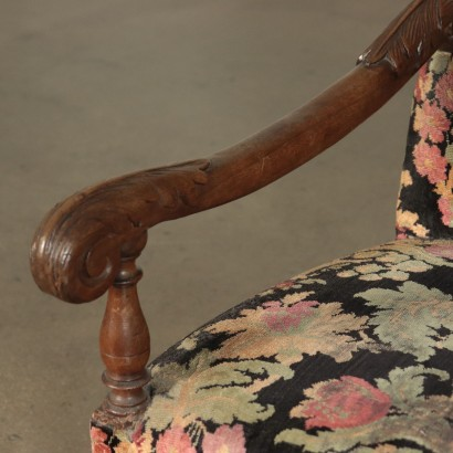 Walnut Armchair Italy 18th Century