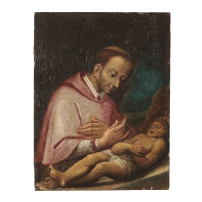 St. Charles Borromeo in Adoration of the Infant Jesus