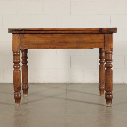 Folding Table Oak Beech and Cherry 19th Century