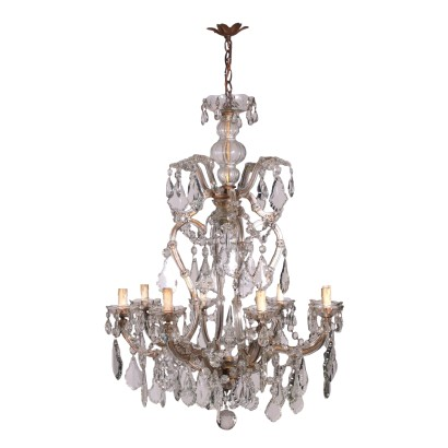 Maria Theresa Chandelier Glass Italy 19th Century