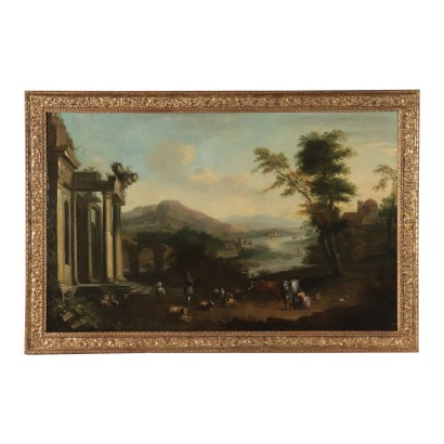 Bucolic Landscape with Ruins