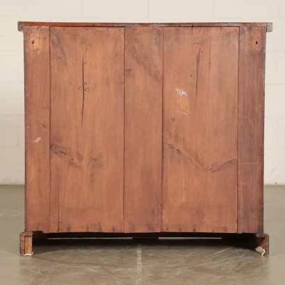 Small Cupboard with Two Doors Mahogany Late 19th-Early 20th Century