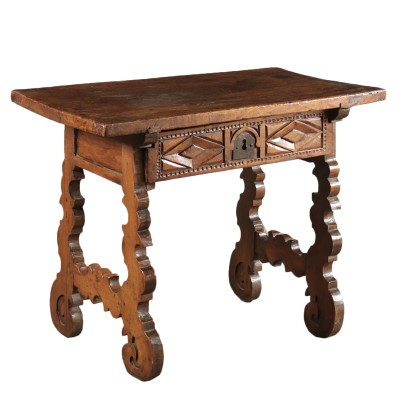 Monk's Table Walnut Spain 18th Century