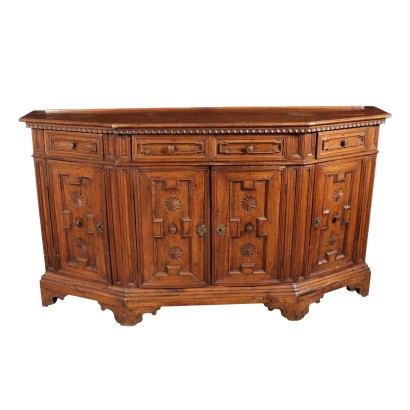 Bevelled Cup Board Walnut Italy 18th Century