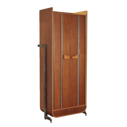 Wall Cabinet Wood Metal and Brass 1960s italian Prodution