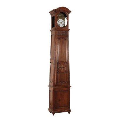Pendolum Clock Maple Walnut And Rosewood Mid 19th Century