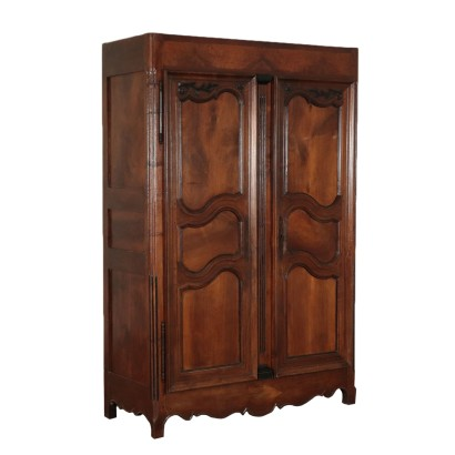 Provencal Wardrobe with Two Doors Walnut 18th Century
