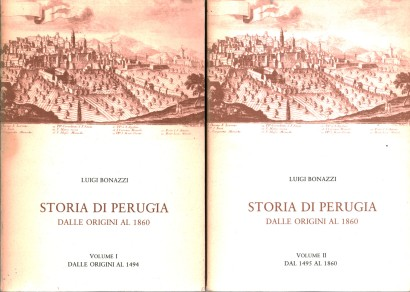 The history of Perugia from its origins to 1860 (2 volumes, with Indexes)