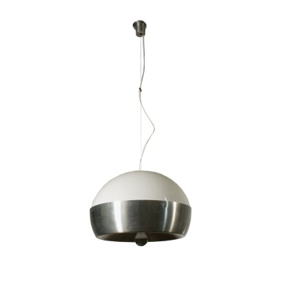 Ceiling Lamp Methacrylate and Steel 1960s Italian Prodution