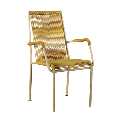Chair Lacquared Metal 1960s Italian Prodution