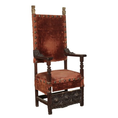 Throne Walnut Italy 17th Century