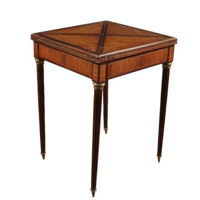 Game Table Mahogany and Tulipwood Italy 20th Century
