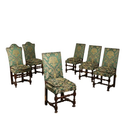 Group of Six Chairs Spool