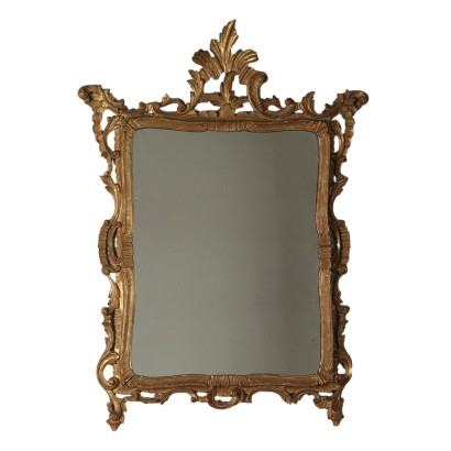 Gilded Mirror Wood Italy 19th Century