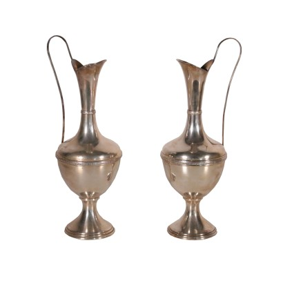 Pair of Silver Amphorae