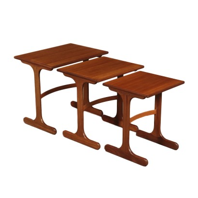 Small Table Solid Wood and Teak Veneer 1960s G Plan Prodution