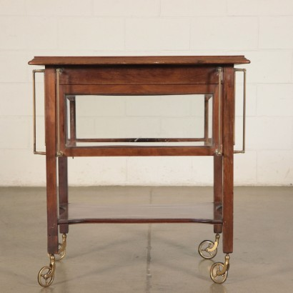 Small Table-Service Trolley Mahogany Italy 20th Century