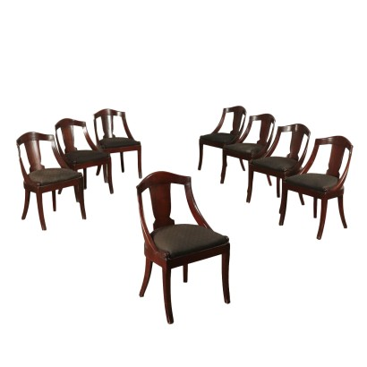 Group of eight chairs '800