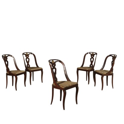 Group of five Chairs in the Style of