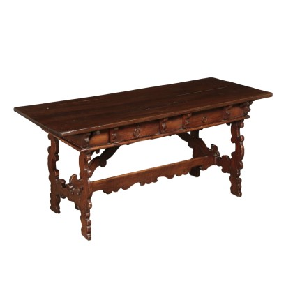 Monk's Table Walnut Poplar Silver Italy 18th-20th Century