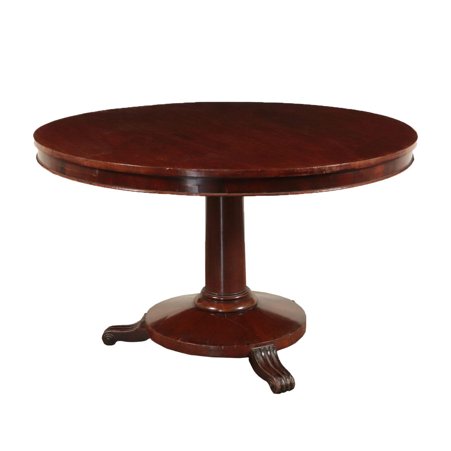 Tavolo Con Gamba Centrale tavolo tondo inglese