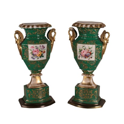 Pair of Vases Ceramic 19th Century