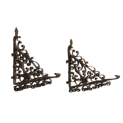Matching Light-Holder, Wrought Iron, Italy 19th Century