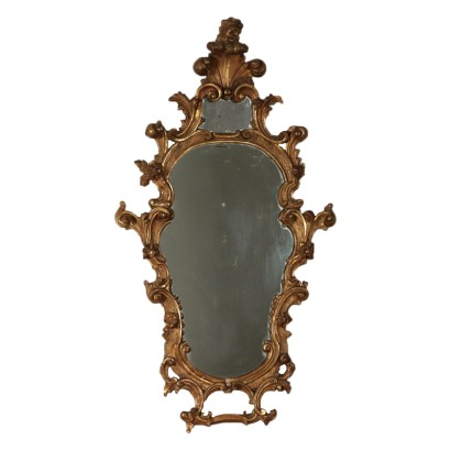Mirror Gilded Wood Italy 19th Century