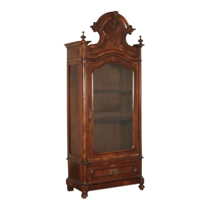 Wardrobe-Showcase Walnut and Walnut Burl Italy 19th Century