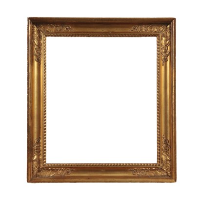 Engraved Frame, Gilded Wood Italy 19th Century