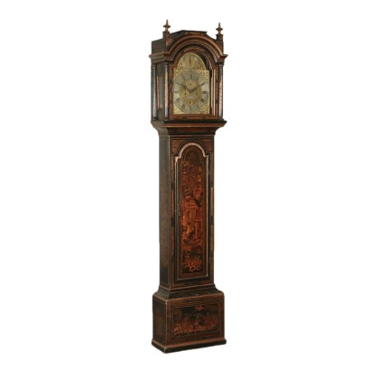 Column Clock. Lacquered Wood England 19th century