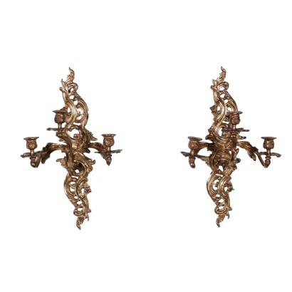 Pair of Appliques, Bronze, Italy 19th Century
