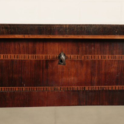 Neoclassical Writing Desk, Various Wood Essences, Tuscany 18th Century