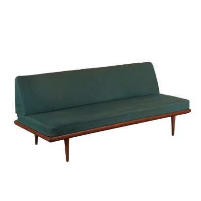 Sofa Teak, Foam and Fabric Peter Hvidt Denmark 1950s-1960s
