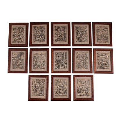 The group of thirteen engravings of the SEVENTEENTH century