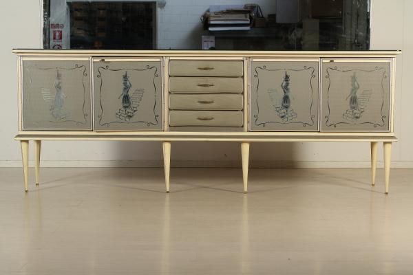 Buffet con specchio anni 40 mobilio modernariato for Como con specchio anni 40
