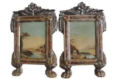 Pair of landscapes in frames of the late '700