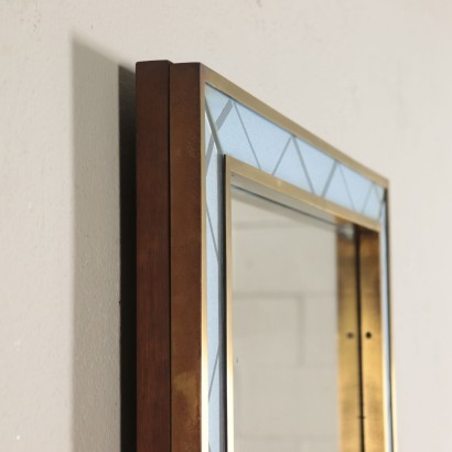 Mirror, Brass and Back-Treated Glass, Italy 1940s-1950s