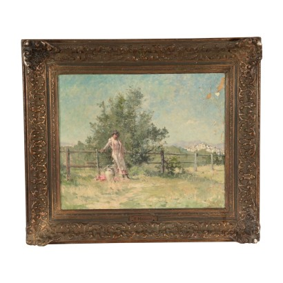 Landscape with girl
