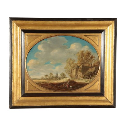 Follower of Jan Van Goyen, Oil on Board
