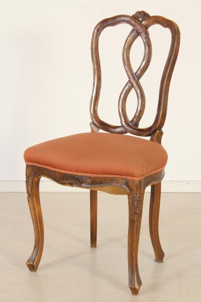 Sei sedie chippendale barocchetto bottega del 900 for Sedie design 900