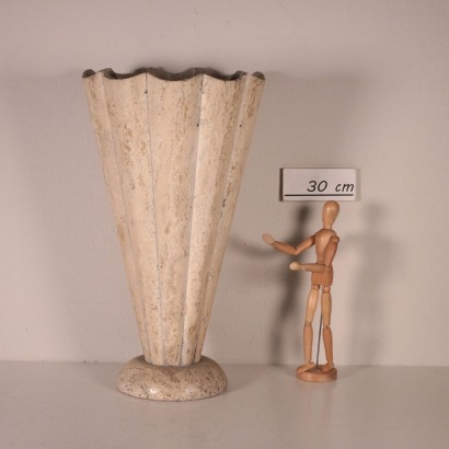 Travertine Marble Vase, Italy 1960s-1970s