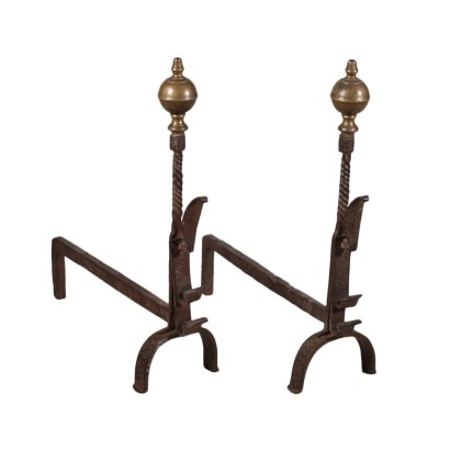 Pair of andirons from the fireplace